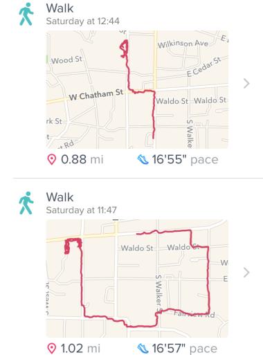 Nov. 5, 2016, walk in Cary, N.C.