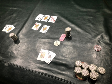 The final hand in the Buck's Billiards Tournament of Champions on Saturday, Feb. 9, 2019.