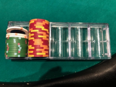 My first Wind Creek Bethlehem poker room haul. I started with $220.