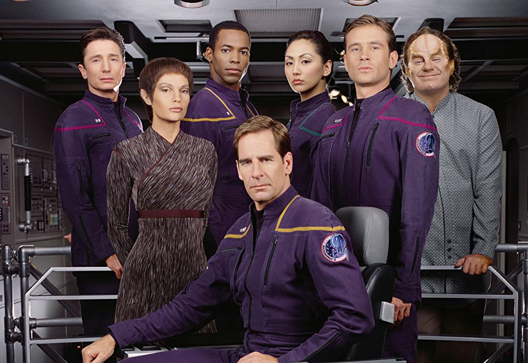 The 'Star Trek: Enterprise' first-season cast.